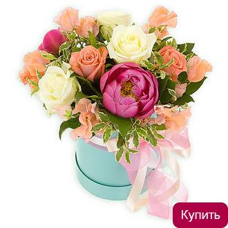 Цветы в коробке Ева